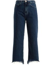 M.i.h Jeans - Caron High-rise Wide-leg Cropped Jeans - Lyst