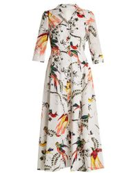 Erdem - Kasia Paisley Parrot-print Cotton Shirtdress - Lyst