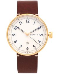 Bravur | Bw102 Stainless-steel And Leather Watch | Lyst