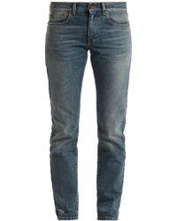 Saint Laurent - Low-rise Straight-leg Boyfriend Jeans - Lyst