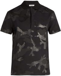 Valentino - Polo en coton à imprimé Camouflage - Lyst