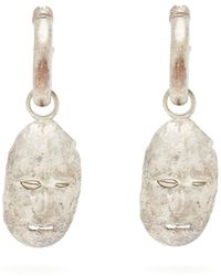 Ellery - Morisco Sterling Silver Face Earrings - Lyst
