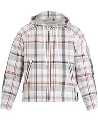 Moncler Gamme Bleu | Checked Lightweight Hooded Jacket | Lyst