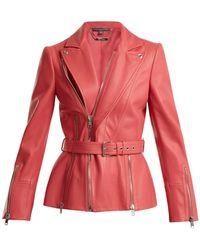 Alexander McQueen | Peak-lapel Leather Biker Jacket | Lyst