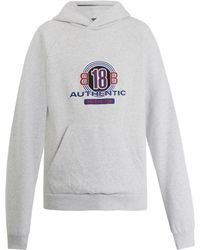 Balenciaga - Bb18 Print Cotton Blend Hooded Sweatshirt - Lyst