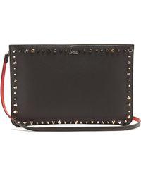 Christian Louboutin - Loubi Stud Embellished Leather Clutch - Lyst