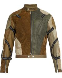 GmbH - Ari Panelled Reclaimed Leather Jacket - Lyst 8d586e8838