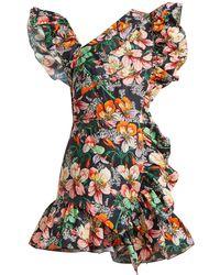 Isabel Marant - Malvern Ruffle Trimmed Floral Print Dress - Lyst