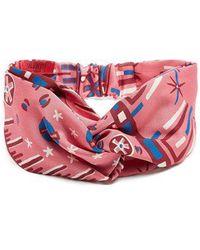 Valentino - Abstract-print Turban Headband - Lyst