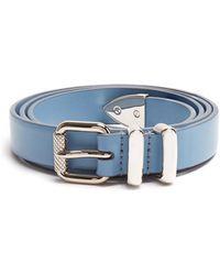 Prada | Skinny Leather Belt | Lyst