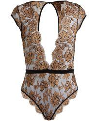 Coco De Mer - Ametrine Silk-blend Chantilly-lace Bodysuit - Lyst