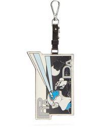 Prada - Saffiano-leather Comic-strip Key Ring - Lyst