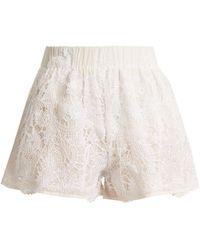 lila.eugénie - 1832 High-rise Cotton And Silk-blend Shorts - Lyst