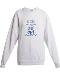 Balenciaga - Sweat-shirt à logo - Lyst