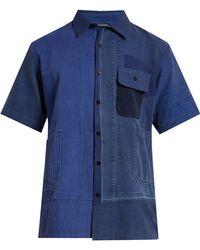 Longjourney   Aged Patchwork Short-sleeved Shirt   Lyst
