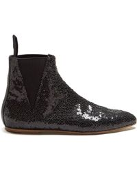 Loewe - Sequin-embellished Ankle Boots - Lyst