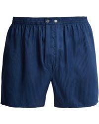 Derek Rose - Woburn Silk Boxer Shorts - Lyst