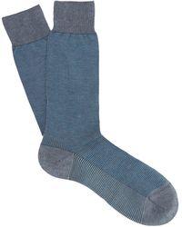 Pantherella - Tewkesbury Birdseye Knit Socks - Lyst