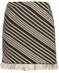 Sonia Rykiel | Diagonal-stripe Mini Skirt | Lyst