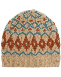 Acne Studios - Fair Isle Wool Hat - Lyst