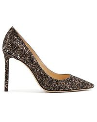 Jimmy Choo - Romy 100mm Glitter Court Shoes - Lyst