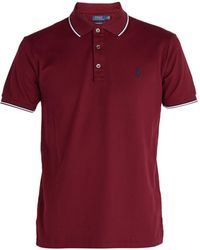 Polo Ralph Lauren - Stripe-trimmed Cotton-piqué Polo Shirt - Lyst