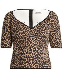 Balenciaga - Leopard-print Neoprene Top - Lyst
