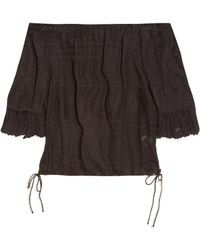 Rebecca Taylor - Off-the-shoulder Embroidered Top - Lyst
