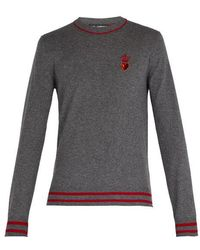 Dolce & Gabbana - Heart And Crown Cashmere And Wool-blend Sweater - Lyst