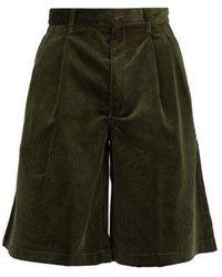 Comme des Garçons - Loose-fit Corduroy Cotton Shorts - Lyst
