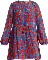 Diane von Furstenberg - Drawstring-waist Silk Crepe De Chine Dress - Lyst