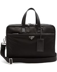 Prada | Leather-trimmed Nylon Briefcase | Lyst