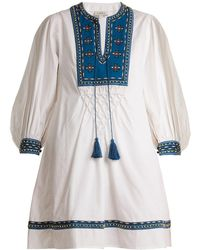 Talitha - Ilaria Bead Embellished Cotton Dress - Lyst