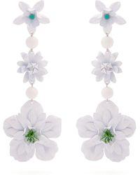 Isabel Marant - Aloha Flower And Bead-embellished Earrings - Lyst