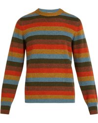 Bottega Veneta - Striped Cashmere Blend Jumper - Lyst