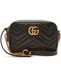 71b441793fb0 Gucci Gg Marmont Mini Quilted-leather Cross-body Bag in White - Lyst