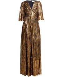 Peter Pilotto - Striped Lurex Chiffon Gown - Lyst