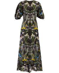 Alexander McQueen - Ophelia Floral Print Silk Dress - Lyst