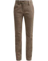 Miu Miu - Pantalon en laine à motif pied-de-poule - Lyst