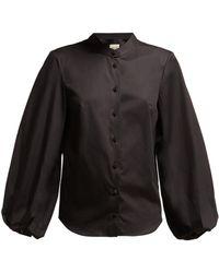 Khaite - Willa Balloon Sleeve Cotton Shirt - Lyst
