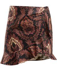 Isabel Marant - Mouna Floral-print Ruffle Mini Skirt - Lyst