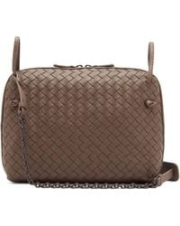 Bottega Veneta Nodini Small Intrecciato Leather Cross-body Bag in ... 5162e83603
