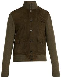 Ralph Lauren Purple Label - Cashmere And Suede Single-breasted Military Jacket - Lyst