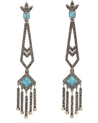 Valentino - Embellished Drop Earrings - Lyst