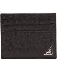 Prada - - Saffiano Leather Cardholder - Mens - Black - Lyst