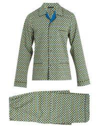 Prada - Geometric-print Cotton Pyjama Set - Lyst