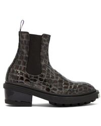 Eytys - Nikita Croc-effect Leather Ankle Boots - Lyst
