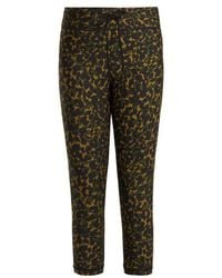 The Upside Nyc Leopard Camo Print Leggings Lyst