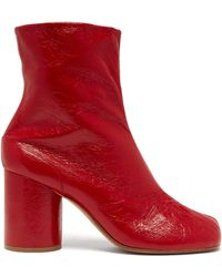 Maison Margiela - Tabi Split Toe Leather Ankle Boots - Lyst
