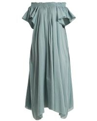Loup Charmant - Hydra Off-the-shoulder Cotton Dress - Lyst